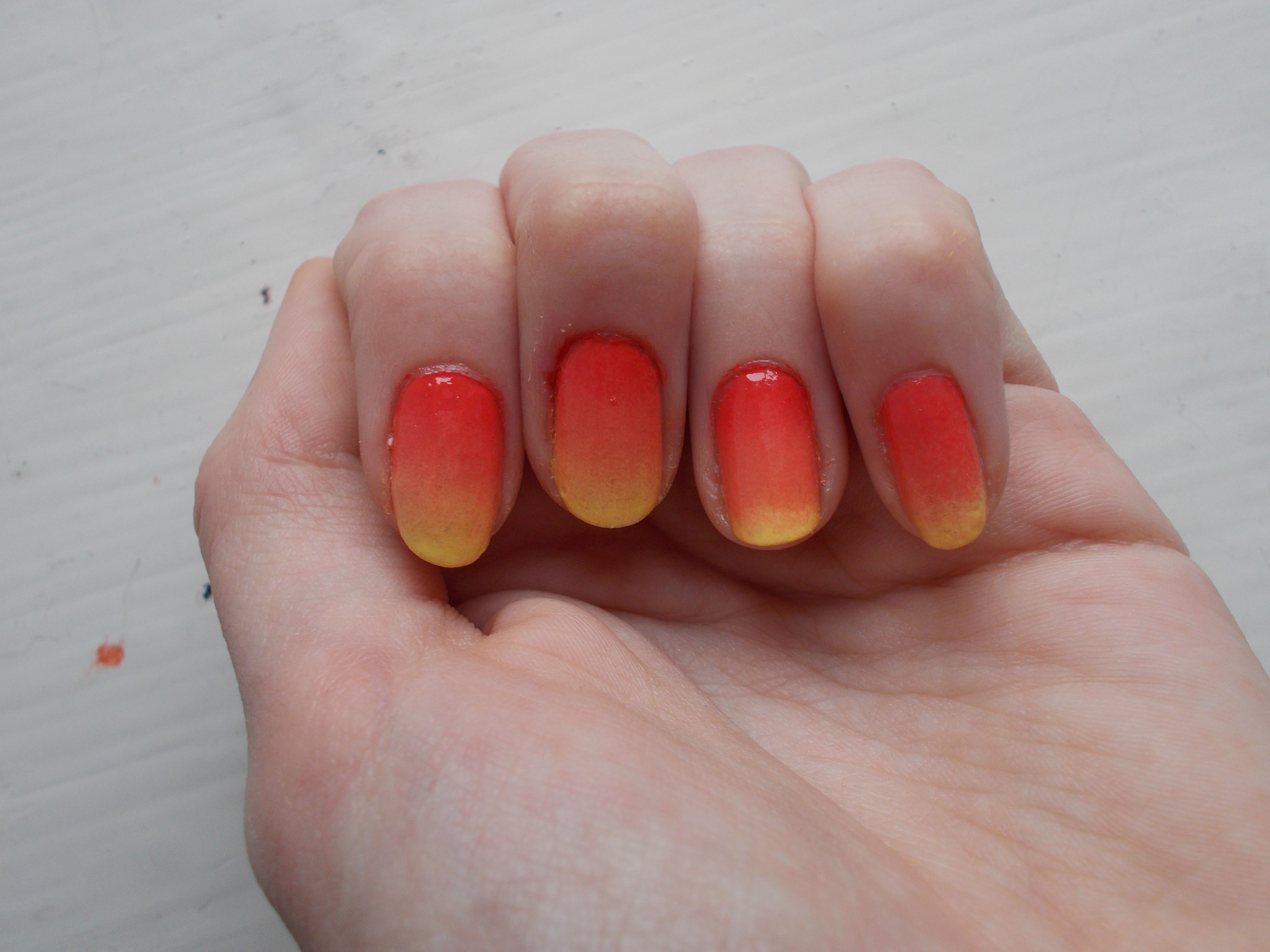 Red and yellow ombre fire nails | My Nails | Pinterest