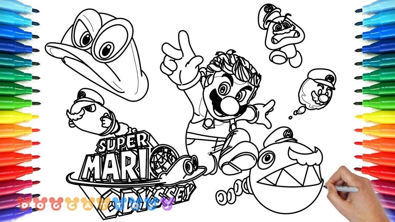 Mario Odyssey Coloring Page
