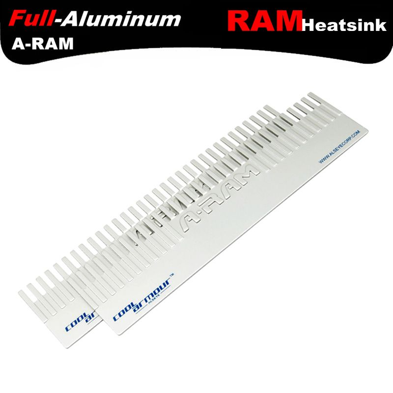 ALSEYE RAM heatsink Memory cooler cooling Aluminum heatsink radiator for ram 127X32mm memory chip heat sink DDR1,2,3,4,5