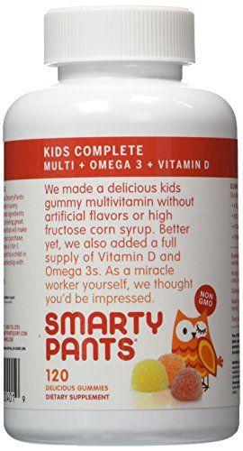 Smartypants Childrens Allinone Multivitamin Plus Omega3 Plus Vitamin D 3 Pack 360 Count Be Sure To Che Vitamins For Kids Childrens Vitamins Gummy Vitamins