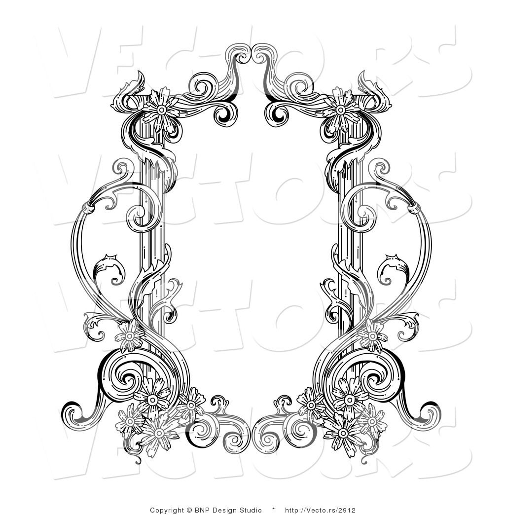 Vector of Old Black and White Victorian Blank Text Box Frame   Frame ...