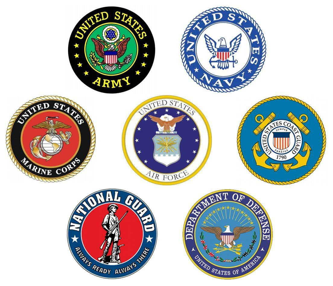 American Warriors Army Navy Marines Air Force Coast Guard Aluminum Metal Sign 12