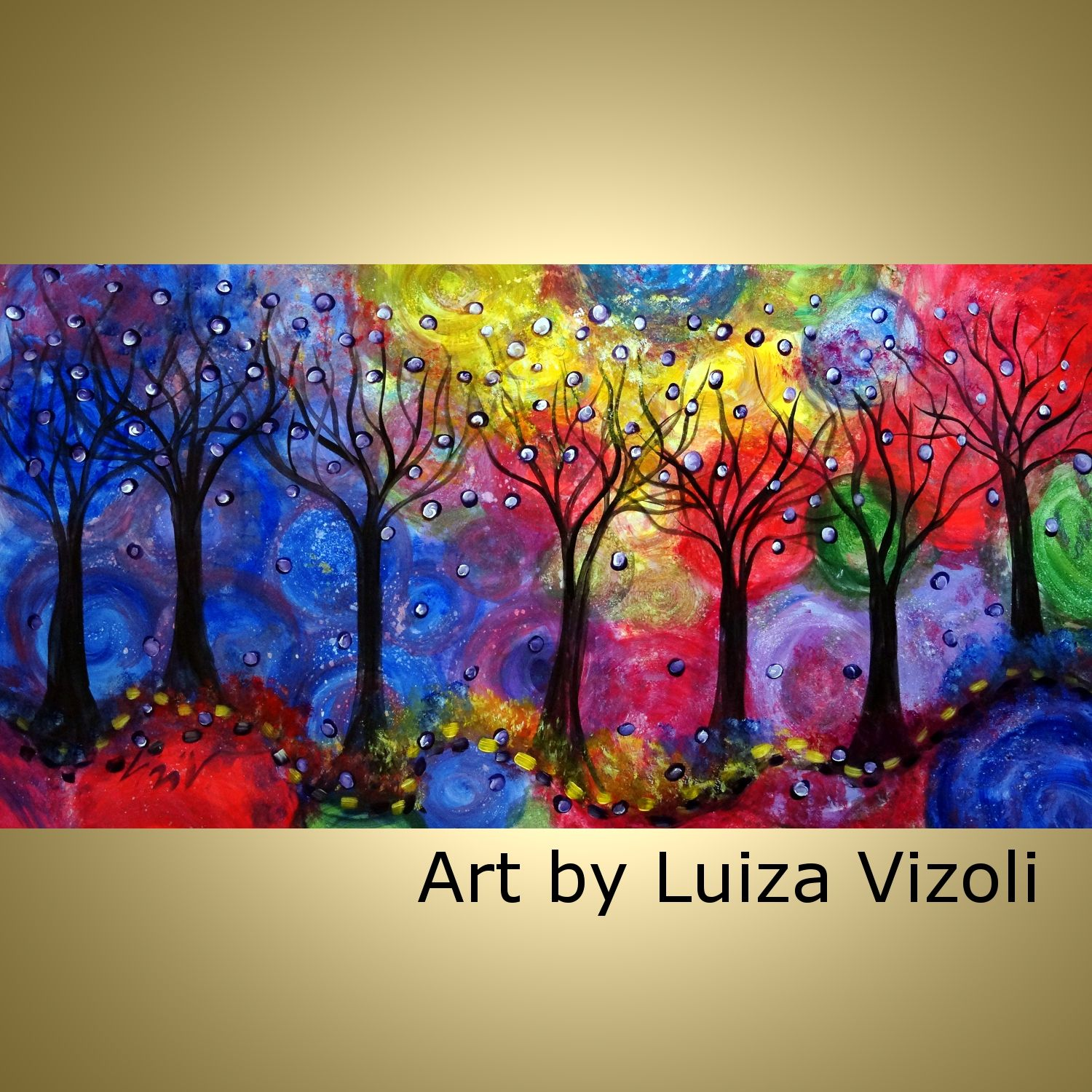 Colors of the Rain-Vibrant large acrylic painting for sale ...