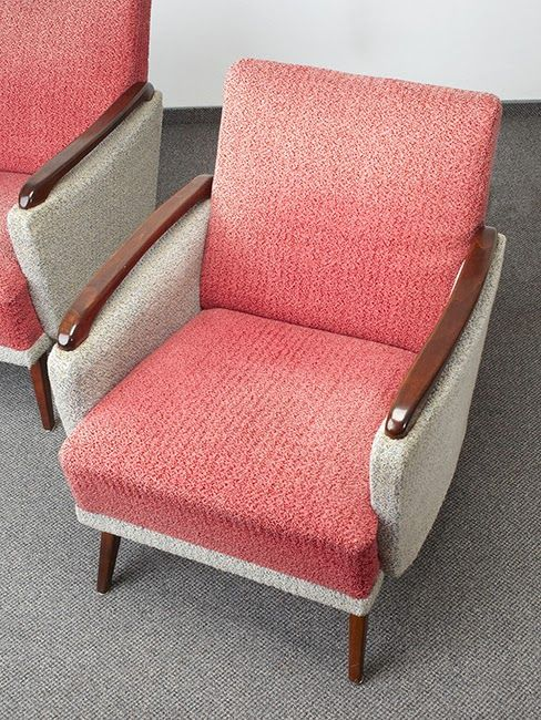 Vintage Armchairs 50s 60s Cocktail Chair Retro Pair Mid Century Club