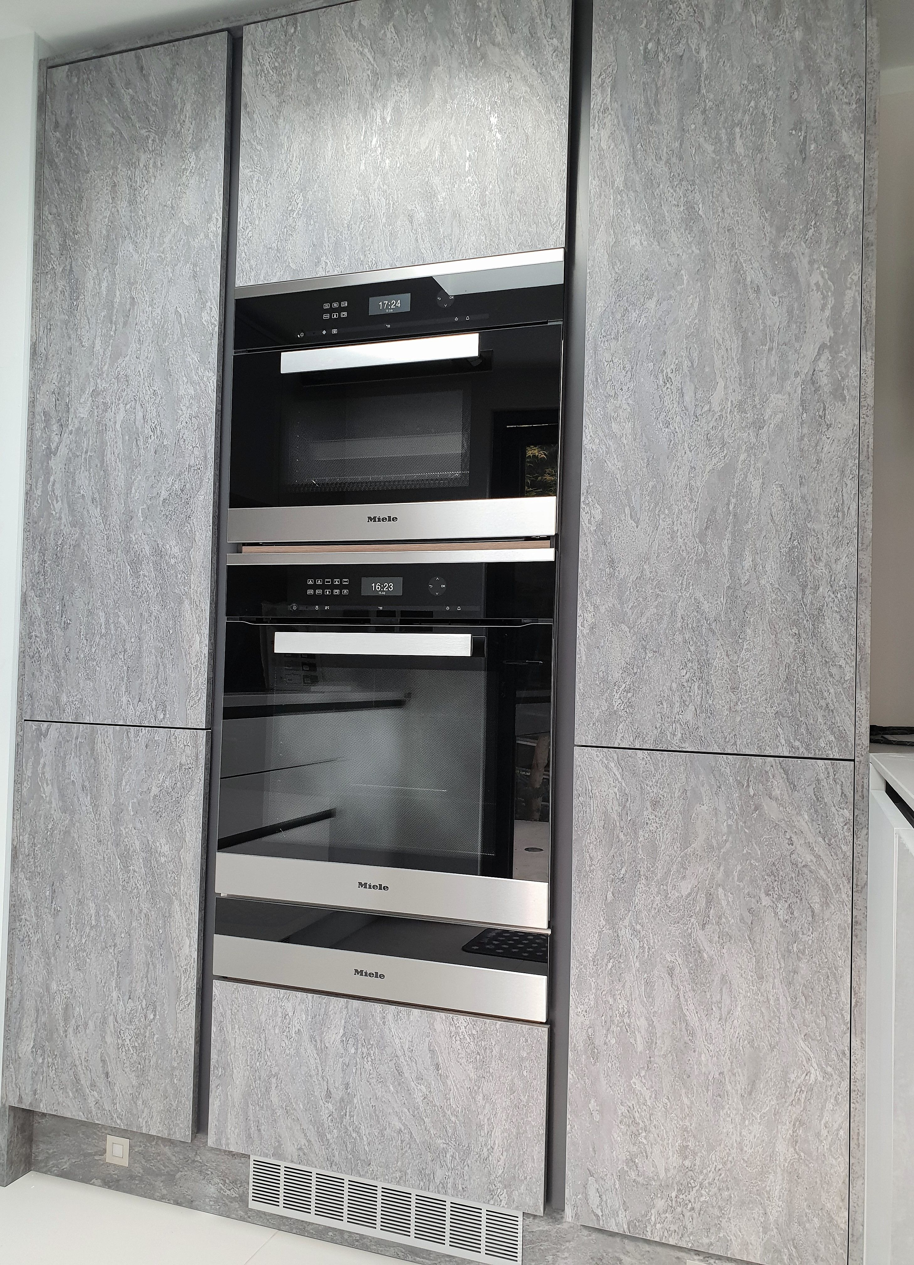 Fantastic Stone Effect Cabinets With Miele Appliances Micro Combi
