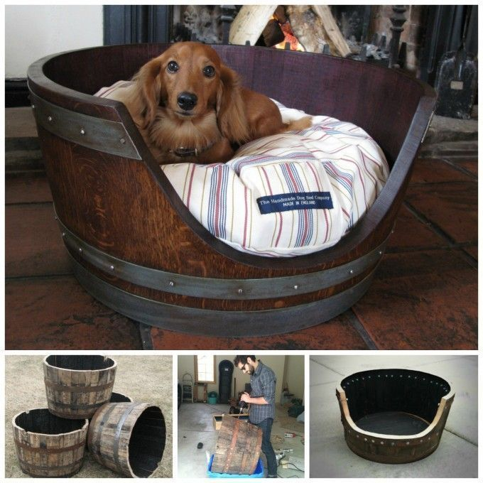 Ruggy Diy Dog Bed: Make A Dog Bed From A Wine Barrel....awesome Upcycled