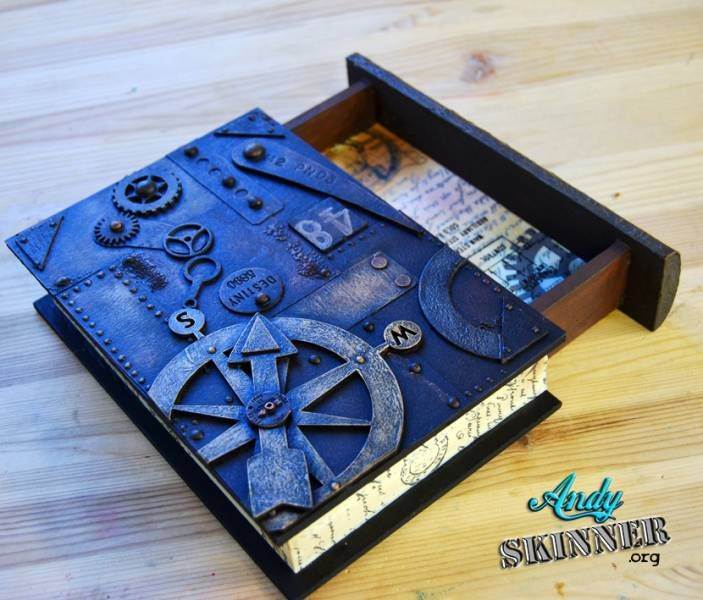 Steampunk Book Cover Diy : Altered steampunk book could teens do something like