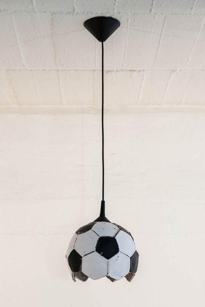 Fussball Lampe Upcycling Fussball Lampe Fussball Schlafzimmer Fussball Kinderzimmer