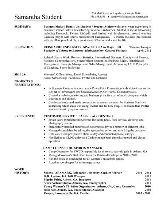 RU Sample Functional Resume NEED to Know Pinterest - sample functional resumes