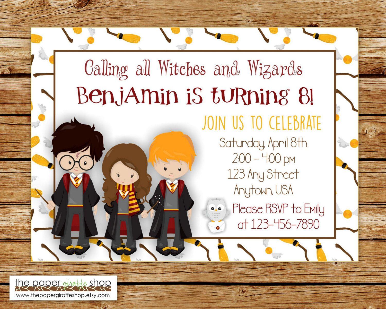 Harry Potter Invitation | Harry Potter Birthday Invitation | Witches ...