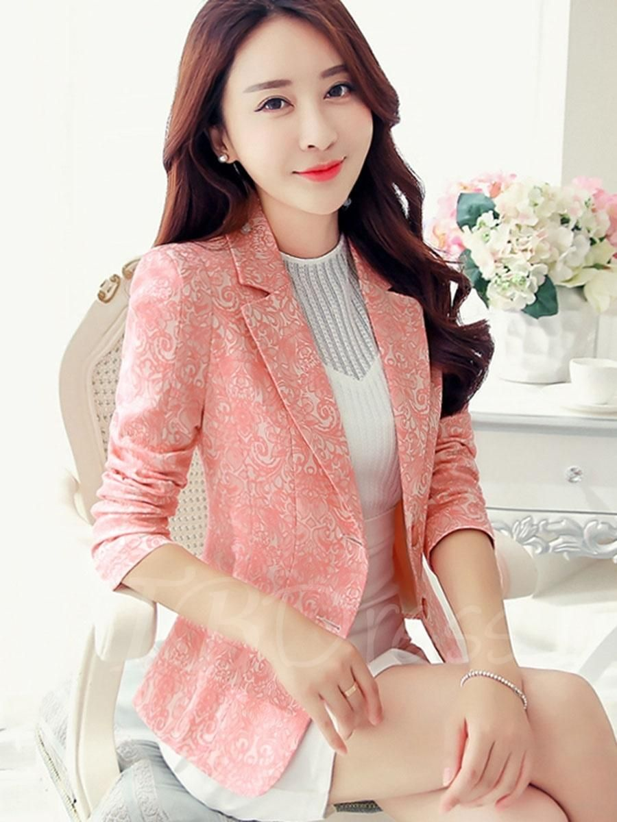 21896aef9c 2017 spring new women s long-sleeved small suit female jacket two buckle  jacquard Slim was thin jacket suits