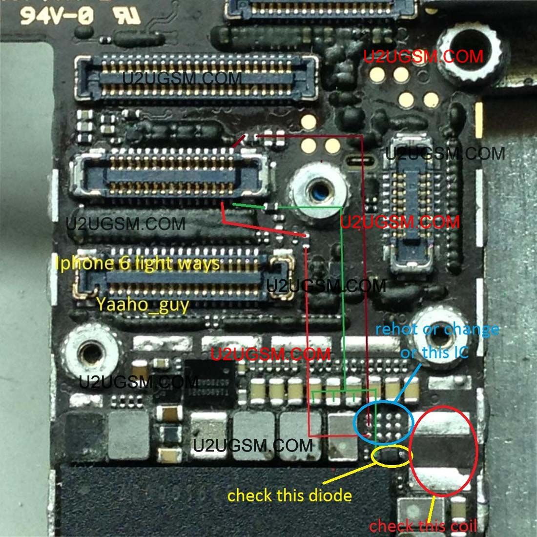 small resolution of iphone 6 lcd display light ic solution jumper problem ways