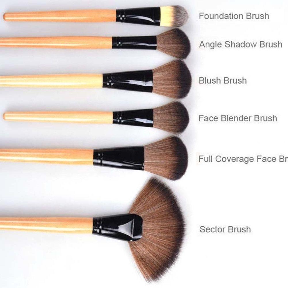 Newest 24 Pcs Black Makeup Brush Cosmetic Tool Kit