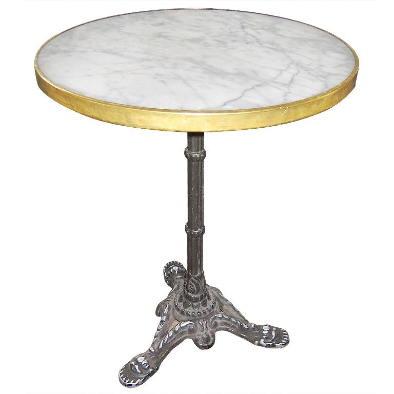 Marble Top French Bistro Table For The Home Cafe