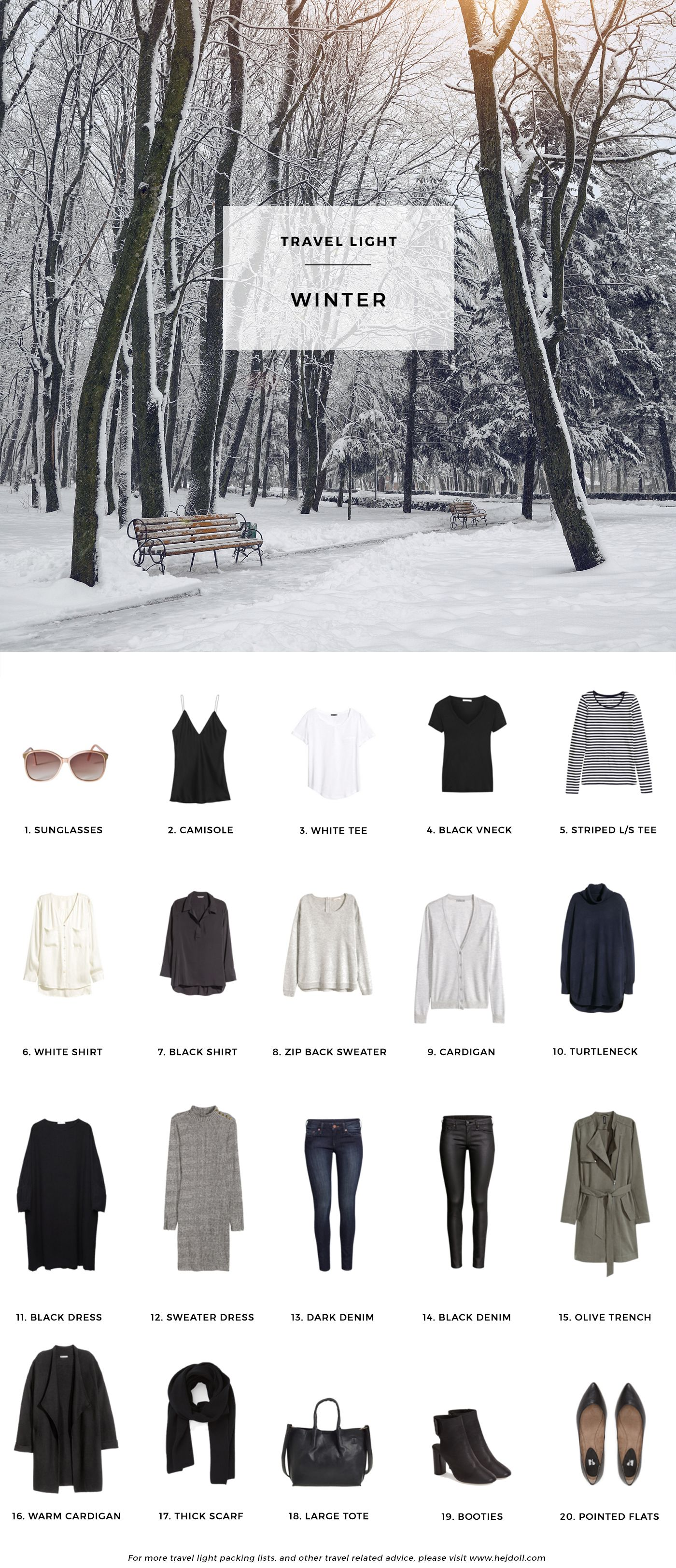 Winter Packing List On A Budget Hej Doll