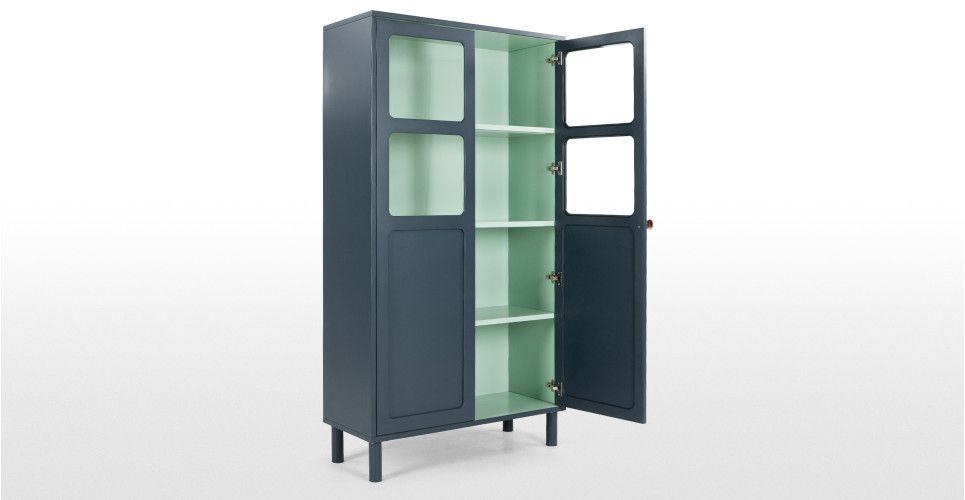 Großer Wohnzimmerschrank ~ Quin großer schrank blau cabinets and blue