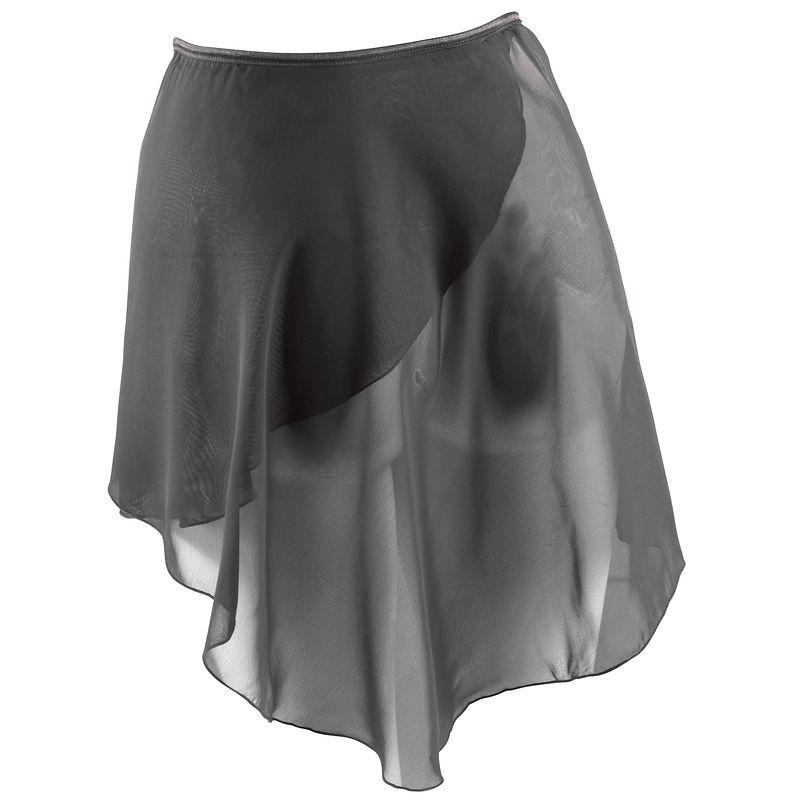 da1100f778 Jupette noire portefeuille en voile de danse classique femme ...