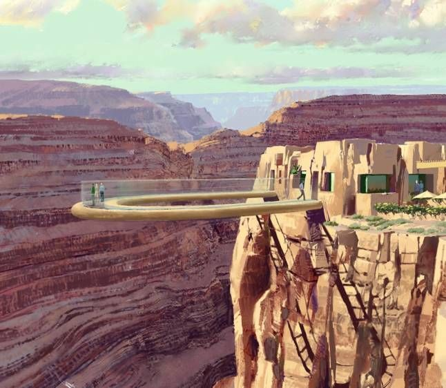 Grand Canyon Skywalk Cost Lot Of People Visit The Grand