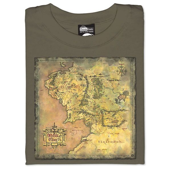 Map Of Middle Earth T Shirt Middle Earth Map Middle Earth Nerd Shirts