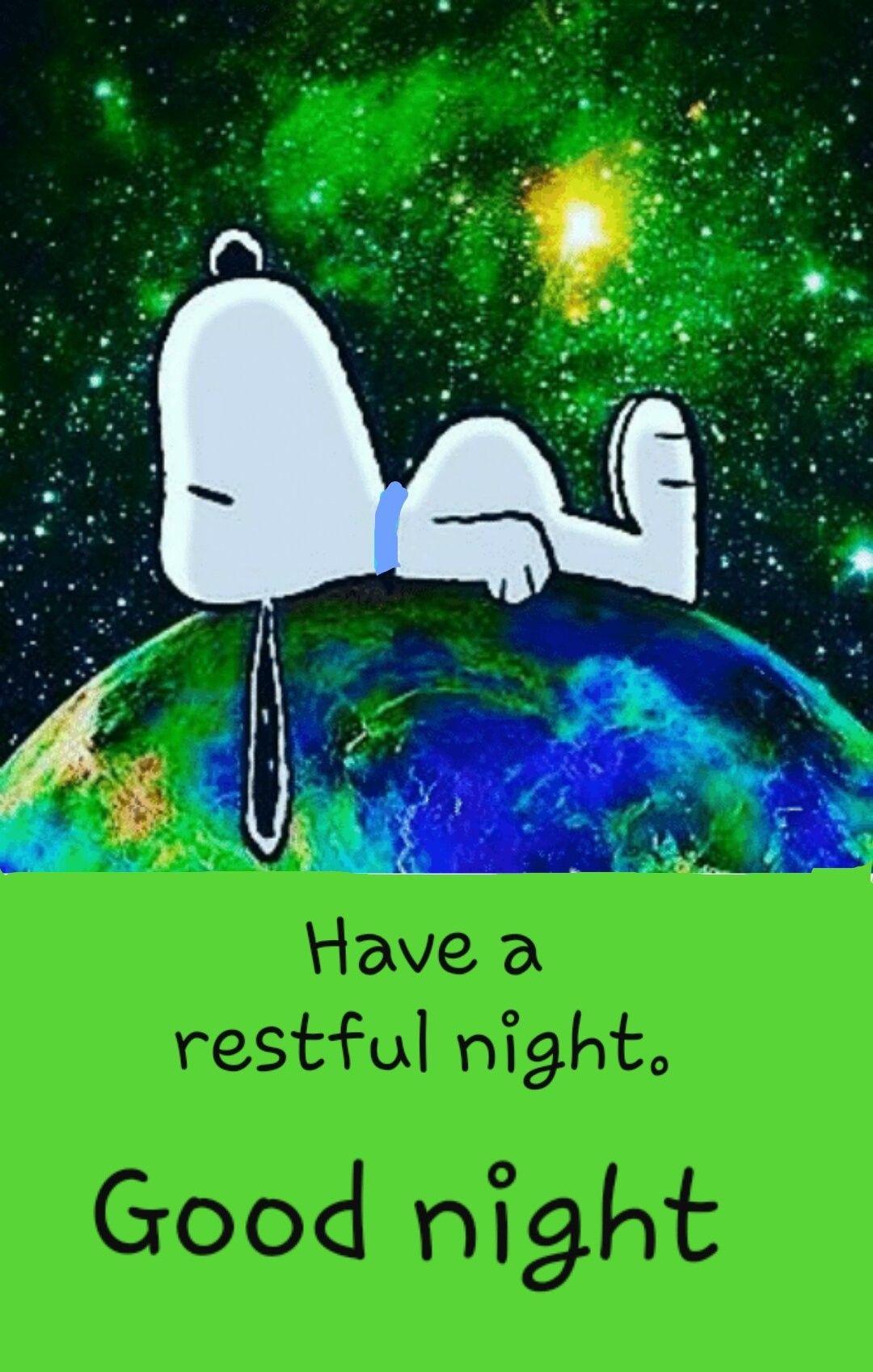 Restful Sleep Good Night Goodnight Snoopy Snoopy Love Snoopy Funny