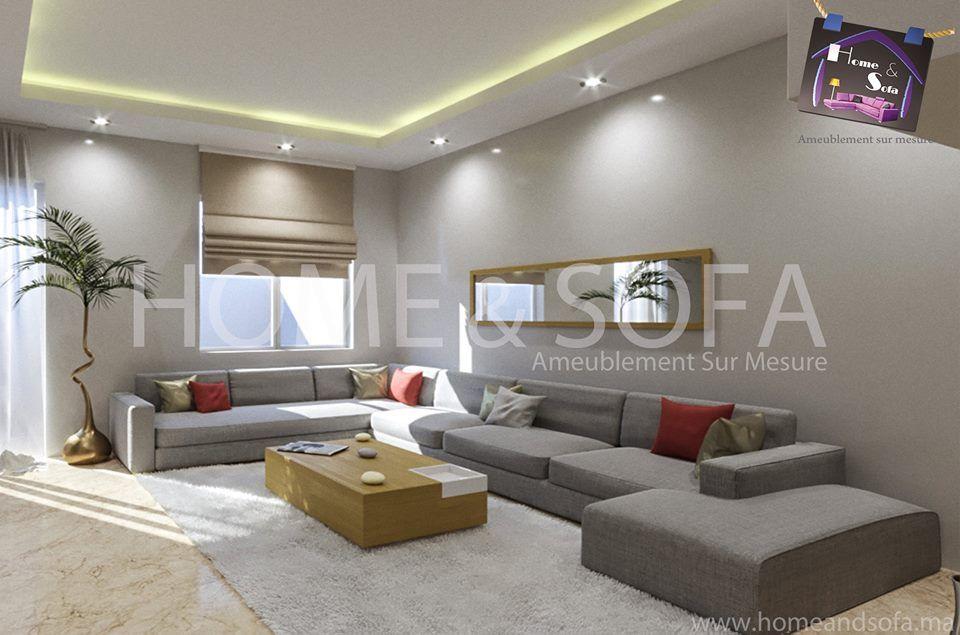 Salon moderne – salon européen – canapé – table basse – Home and ...