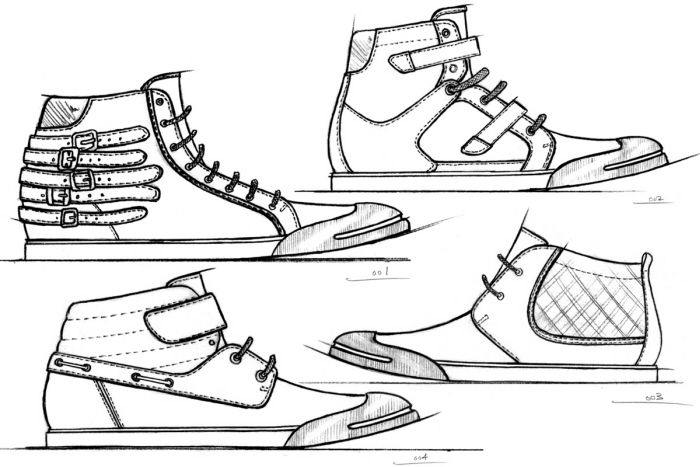 Footwear Sketches By Jason Clifton At Coroflot Com Shoe Design Sketches Footwear Shoes Drawing