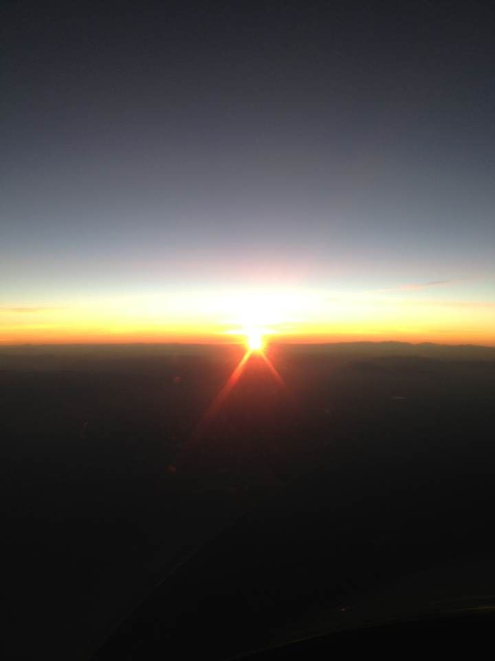 Sunrise from the skies