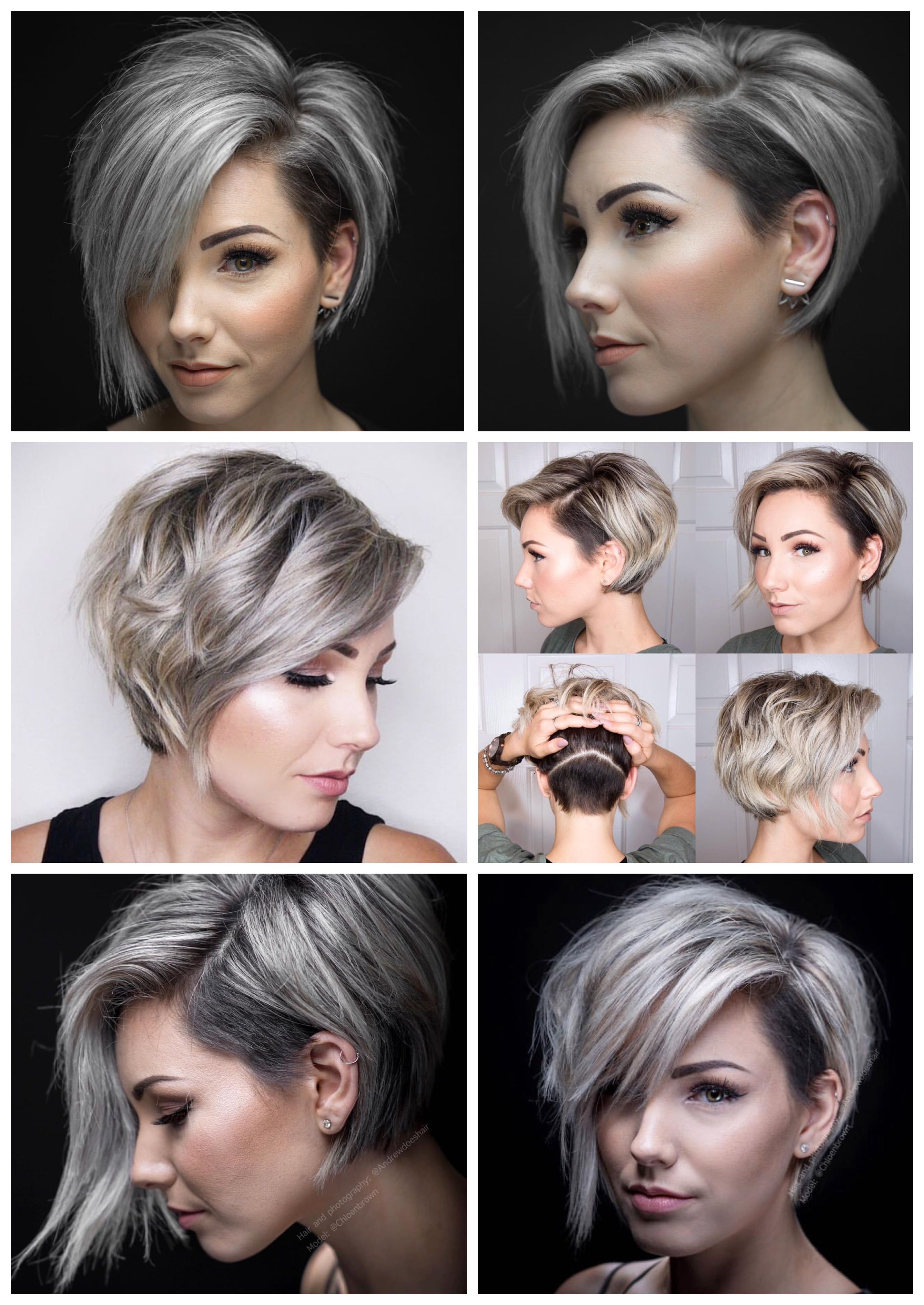 Asymmetrical Short Bob : asymmetrical, short