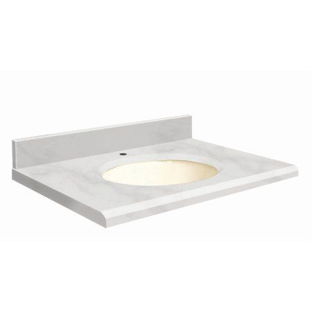 Transolid Natural Marble 31 inch x 22 inch Bathroom Vanity Top with
