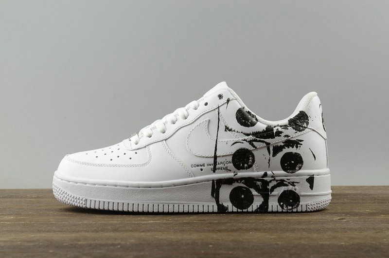 9fdbd3ea2f50 Big Boys Nike Air Force 1 Youth AF1 x Supreme x CDG White 923044 100 ...