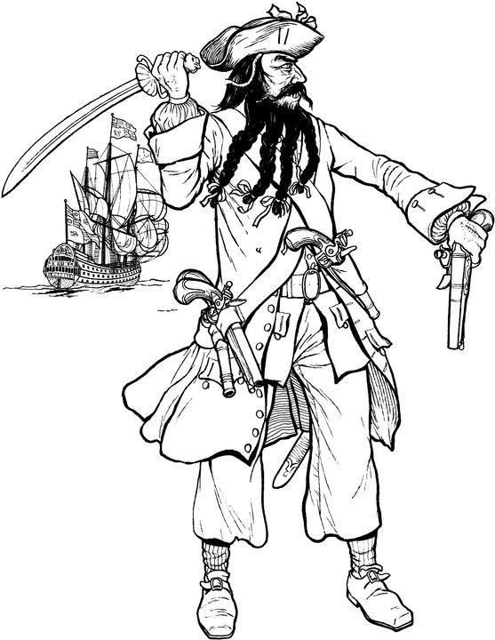 Blackbeard Famous Pirates Black Beard Pirate Blackbeard
