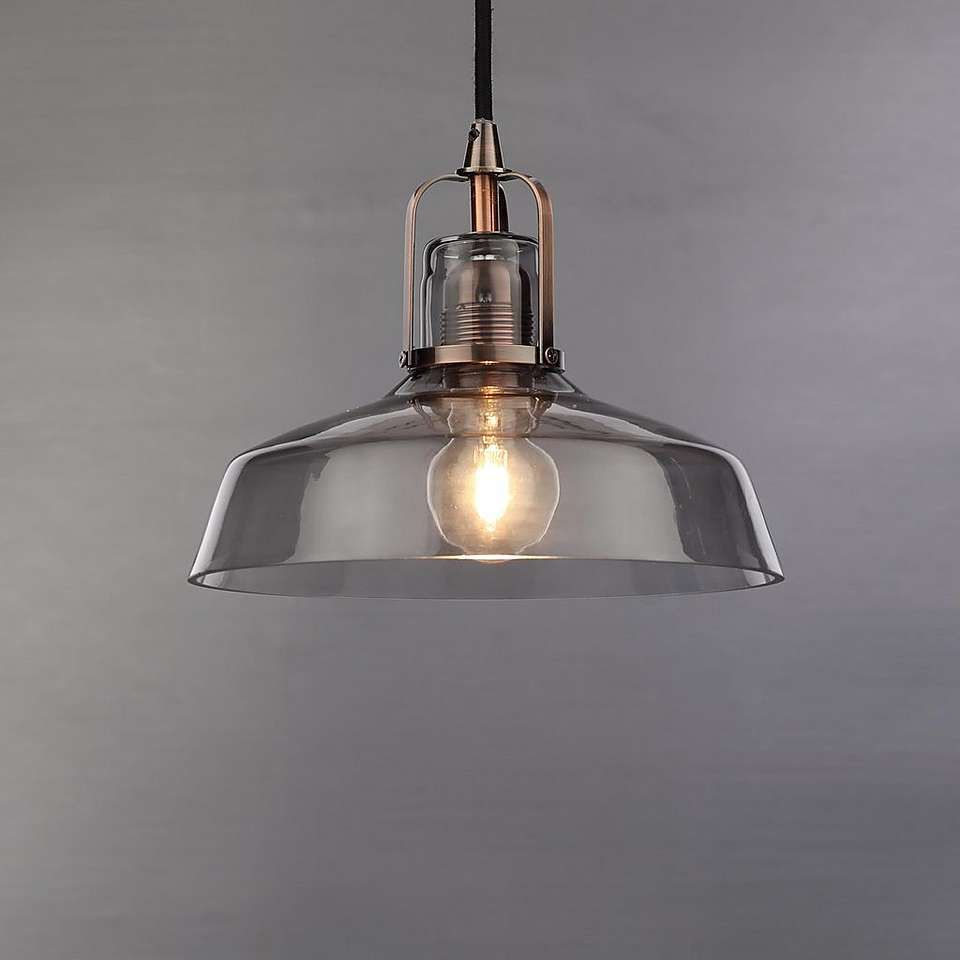 Suva Smoke Glass Pendant Fitting