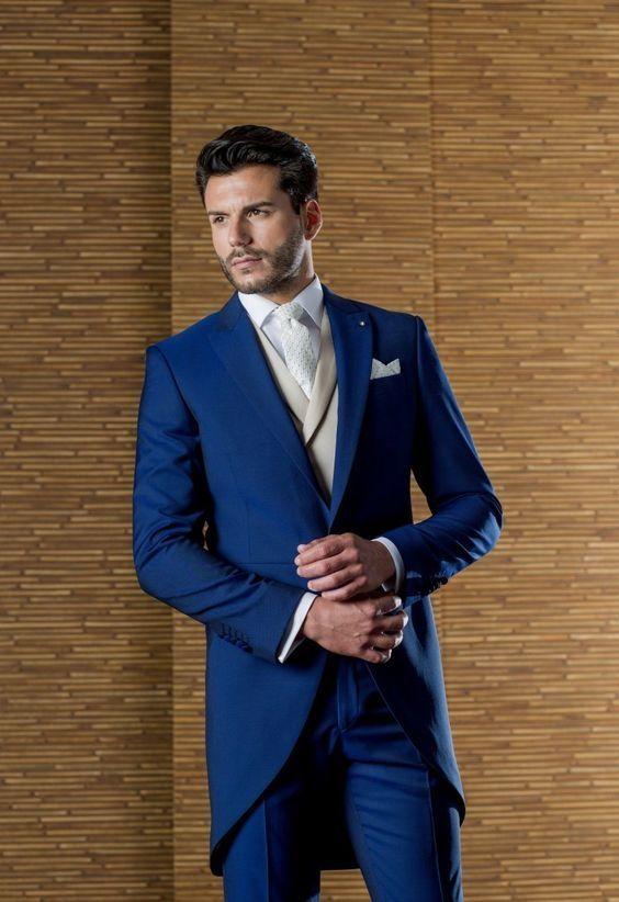 Latest Coat Pant Designs Italian Royal Blue Men Suit Slim Fit 3 Piece Long  Tuxedo Prom Suits Custom Groom Blazer Terno Masculino f2993adb8880