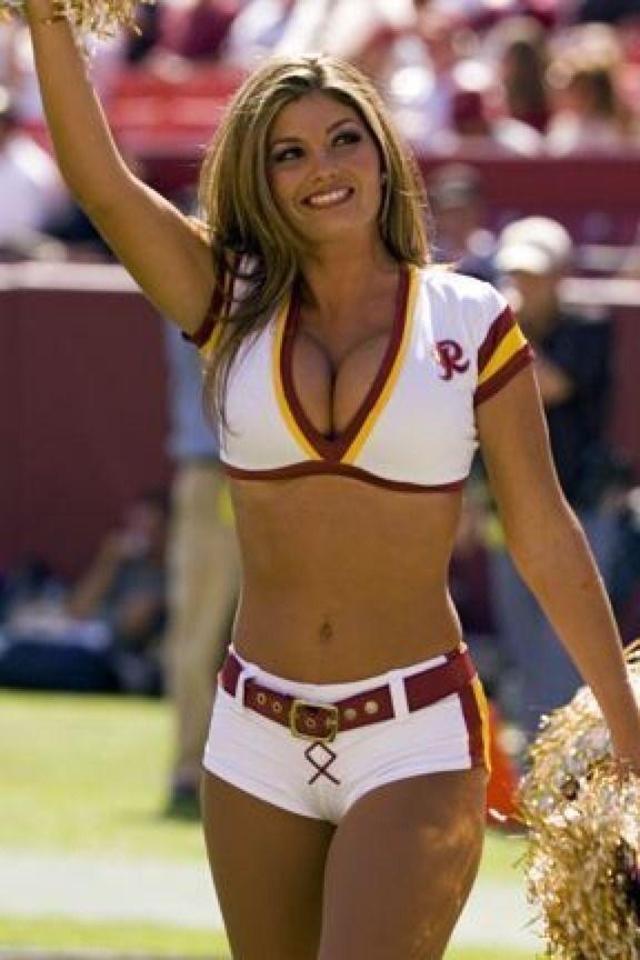 Sexy Cheerleader  Cheers  Redskins Cheerleaders, Hottest -5865