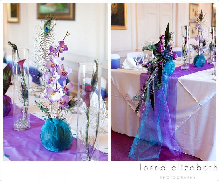 20 Port Lympne Wedding Photos Peacock Colours Wedding Theme Flowers