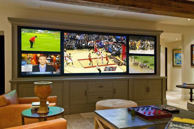 Multiple Tv S Future Man Cave Man Cave Home Bar Media Room Design Small Movie Room