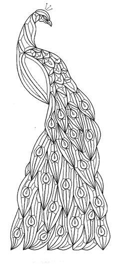 Patrón simple del vitral del pavo real … | arte | P…