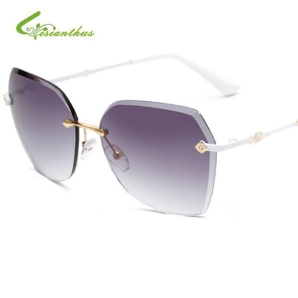 50f4884a8f22  FASHION  NEW 2018 New Oversized Metal Frame Women Sunglasses Fashion  Gradient Rimless Sunglasses Retro Sun Glasses For Women Eyewear UV400