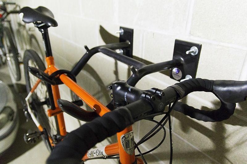 Dero Wall Rack 2 Bike Capacity Bike Hanger Bike Hanger Wall Racks Outdoor Bike Racks