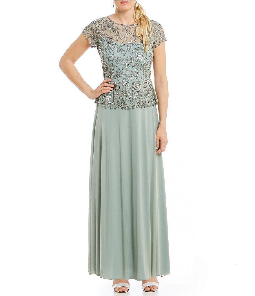 e4500bc768ae Pisarro Nights Chiffon Beaded Bodice Mock Two-Piece Gown | Wedding ...