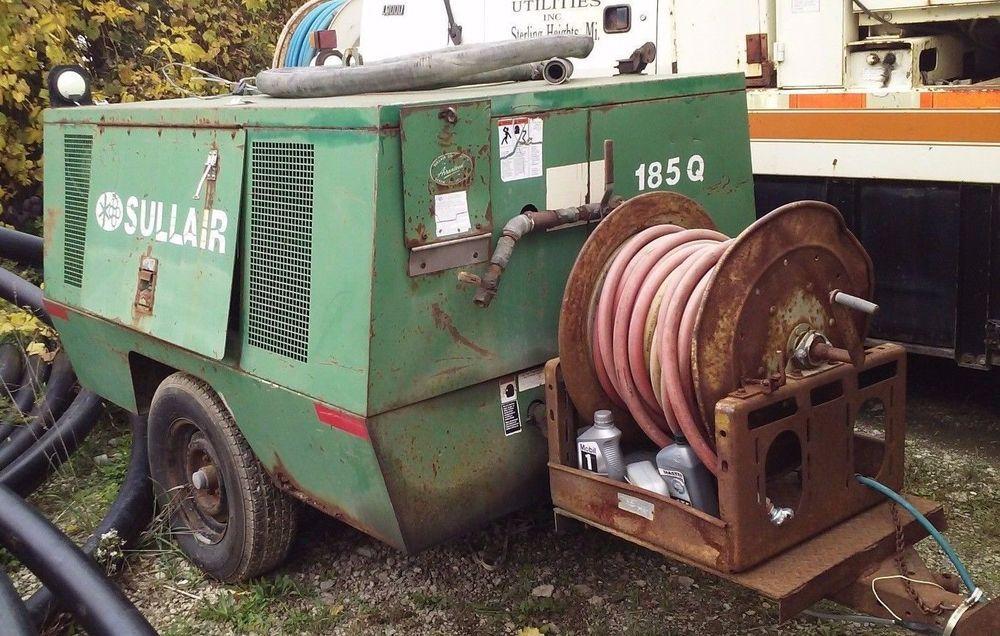 John Deere Air Compressor Ebay >> Genuine Sullair 185q Portable Air Compressor John Deere Engine