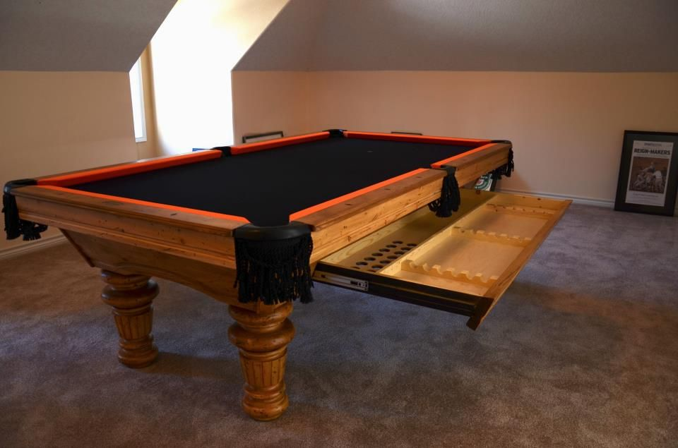 Timberline Pool Table By Golden West Billiards Custom Drawer