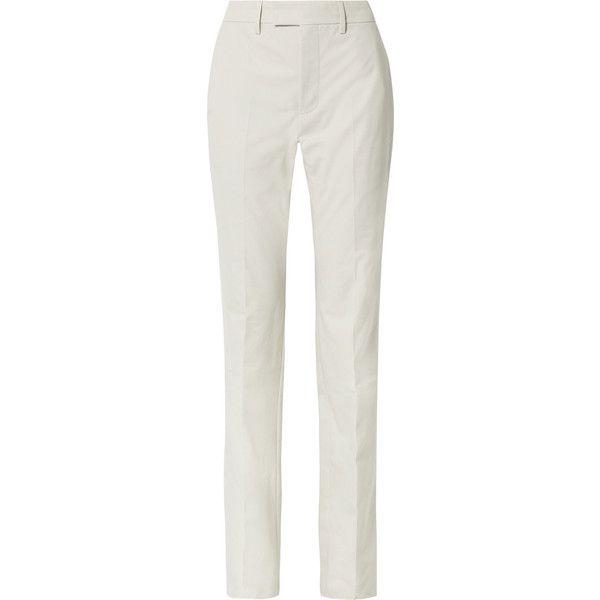 Le Monsieur Cotton-canvas Straight-leg Pants - Cream Balenciaga kVVrr