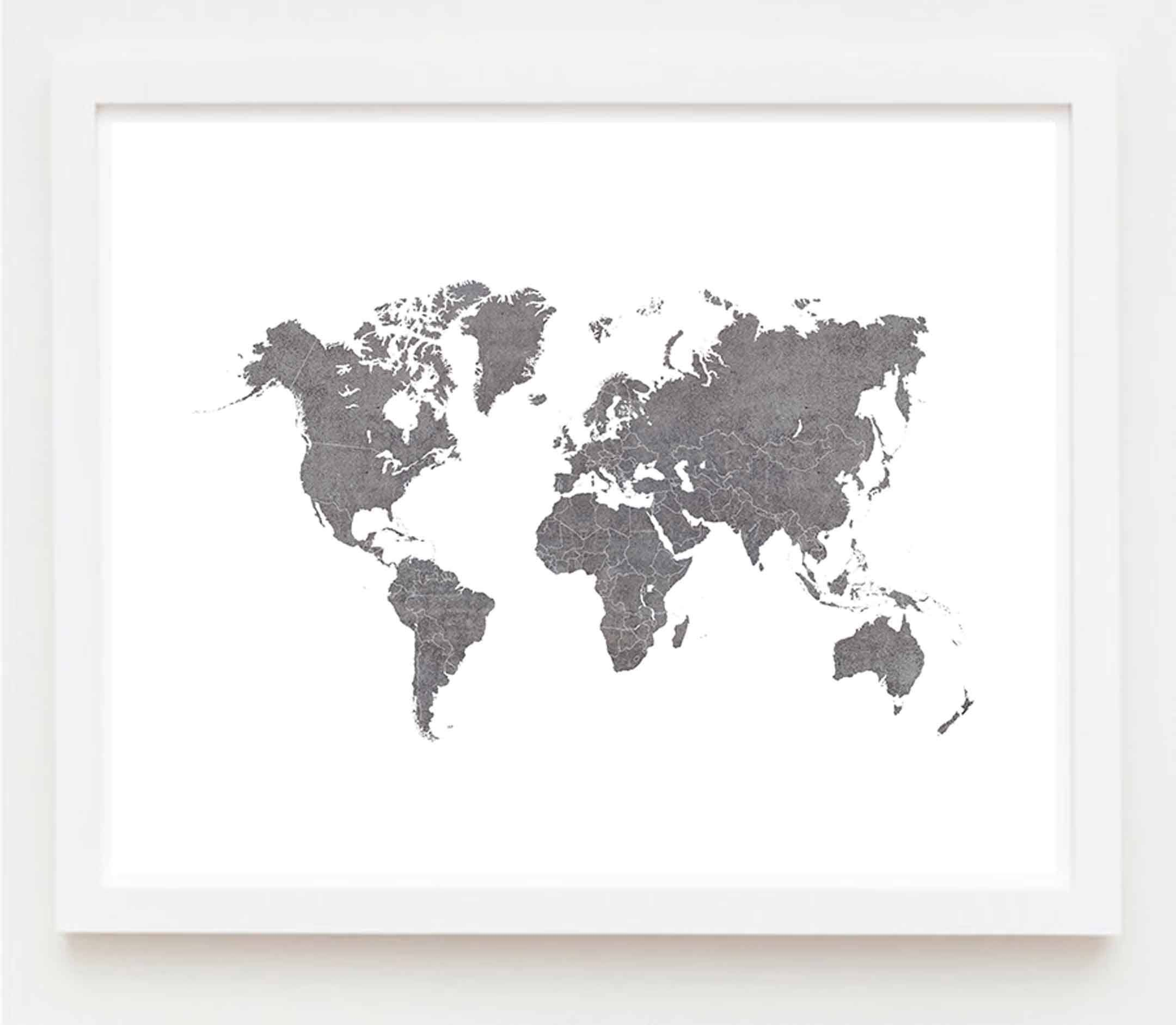 World map canvas art print download stone neutral gray extra large world map canvas art print download stone neutral gray extra large wall art scandinavian decor oversized gumiabroncs Gallery