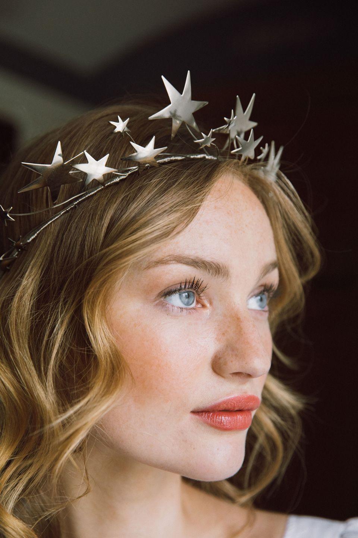 Star Tiara Celestial Wedding Crown Wedding Headpiece Bridal Tiara Bridal Circlet Hair Accessories Bridal Hair Accessories