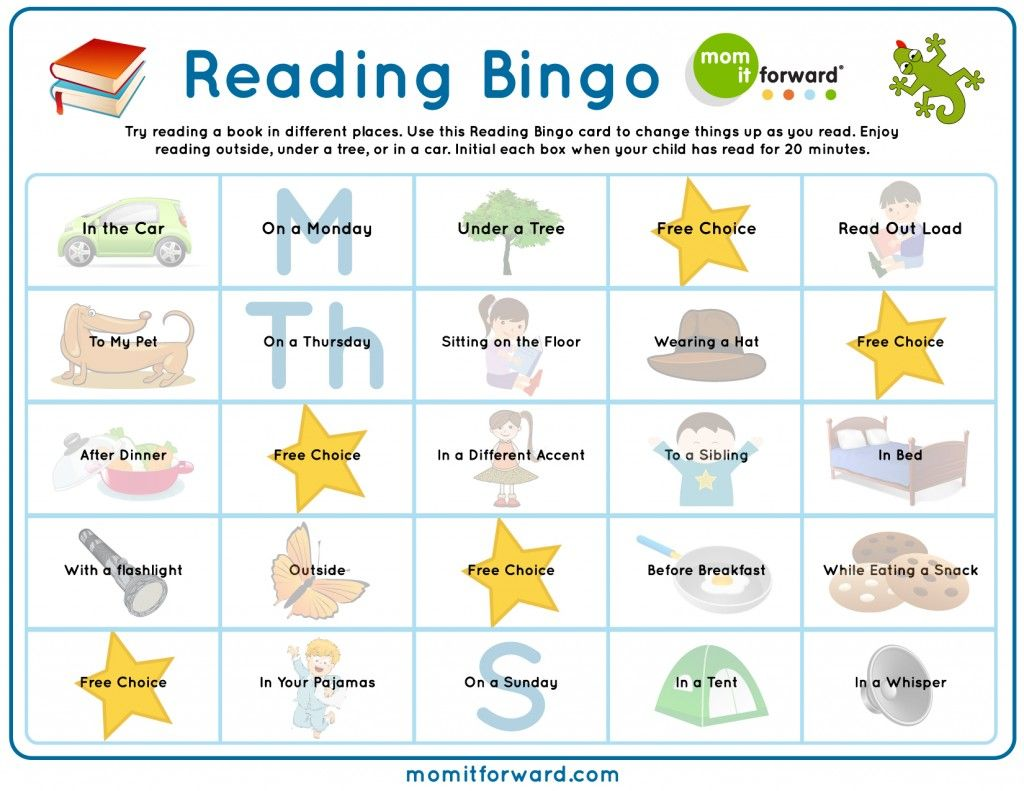 Reading Bingo Printable