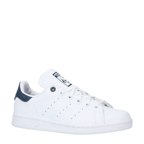 adidas stan smith wit blauw heren
