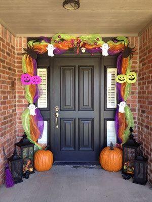 Decoraciones de pared y puerta para halloween london for Decoracion de puertas de dia de muertos