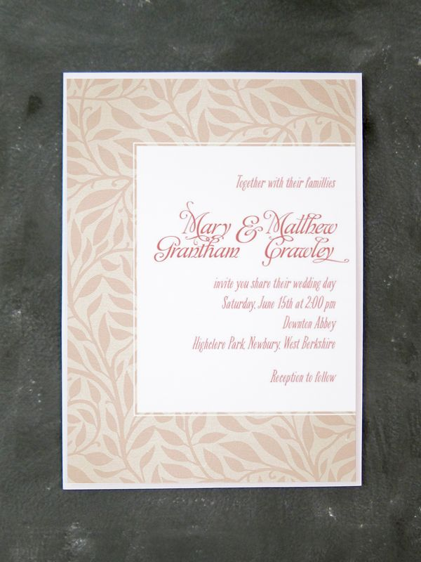 next day wedding invitations%0A Mary   Matthew  Downton Abbey  wedding invitations     Part of the Mary
