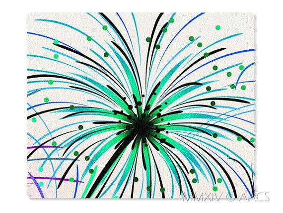 Daylight Firework Mouse Pad Style 114 Pink Purple Green by ATHiNGZ, $5.99